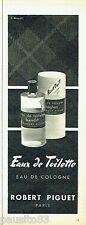 PUBLICITE ADVERTISING 016  1956  Robert Piguet eau de toilette Bandit Baghari