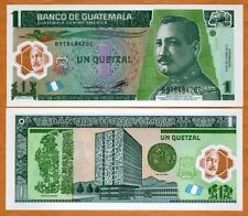 Guatemala - 1 Quetzal - UNC polymer currency note - 2012 new design