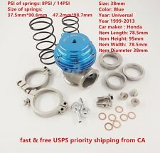 NEW WASTEGATE For TIAL MVS 38mm Blue With V-BAND AND FLANGES MV-S FREE SHIPPING