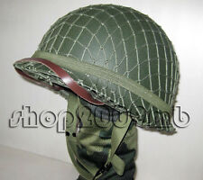 Collectibles WW2 Helmets  US Army M1 Green Helmet W Net Replica Reproductions