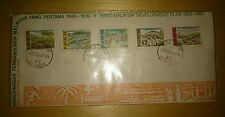 1966-1970 First Malaysia Development Plan RMK1 5v Stamp Rare Private Cover FDC