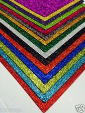12 X GLITTER FOAM SHEETS MANY COLOURS TO CHOOSE FROM ARTS AND CRAFT HOBBY