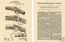 WINCHESTER 1885 Single Shot Rifle PATENT Art Print READY TO FRAME!! Browning Gun