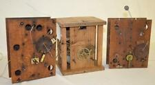 3 Antique Wood Work Clock Movements, all appear complete. See photos... Lot 261A