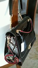 NWT~ ARCADIA ~Italy ~SATCHEL/SHOULDERBAG/CROSSBODY-Black Patent Leather