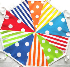 CANDY MIX MULTI 30 ft/ 9m Handmade Fabric Bunting Birthdays Mad Hatter