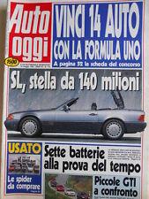 Auto OGGI n°179 1990 Le Spider da comprare - Piccole GTI a confronto  [Q201]