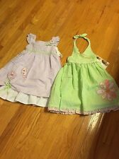youngland girls sundress size 4-6x NWT Lot 2 Lavender&green Super Cute