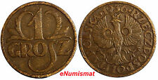 Poland Brass LOT OF 2 COINS 1923  5 Groszy 19.5 mm Y#10