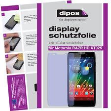 1x Motorola RAZR HD Schutzfolie klar Displayschutzfolie Folie unsichtbar Display