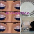 Glitter Eye Shadow White with Fix Gel and Application Wand loose glitter makeup