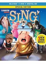 SING(BLU-RAY+DVD+DIGITAL HD) SPECIAL EDITION 3MINI MOVIES BRAND NEW