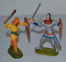 Elastolin 70mm norman/saxon robin hood type figures (c)