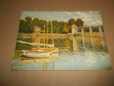 CLAUDE MONET ** ARGENTEUIL BRIDGE ** POSTCARD EXCELLENT UNPOSTED
