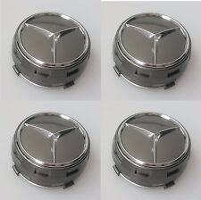 4 X MERCEDES BENZ 75MM CENTRE CAPS FOR GENUINE ALLOY WHEELS AMG GREY