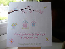 Handmade Personalised Sweet Birdhouse New Home House Moving Good Luck Card