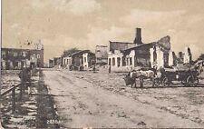 ✚735✚ German Field Postcard Feldpost WW1 FRONTLINE RUINS 21TH FIELD ARTILLERY