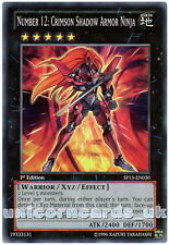 SP13-EN030 Number 12: Crimson Shadow Armor Ninja 1st Edition Mint YuGiOh Card