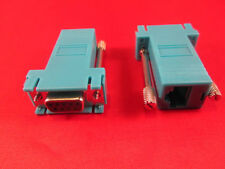 Cisco CAB-9AS-FDTE, RJ45 to DB9 Female Adapter, Console, PC Serial, Blue.