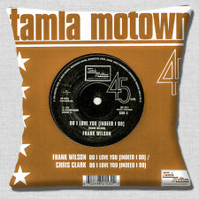"TAMLA MOTOWN NORTHERN SOUL FRANK WILSON DO I LOVE BROWN 16"" Pillow Cushion Cover"