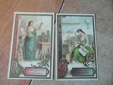 2 x CHROMO TRADE CARD CHICOREE VOELCKER COUMES BAYON Nouvelles Technologies