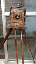 ANTIQUE WOODEN CAMERA FOR SALE.
