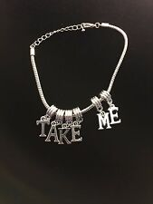 """Sexy """"TAKE ME"""" Hotwife Anklet Queen of Spades Jewelry Fetish BBC Cuckold 100"""