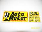 """VINTAGE 70s ORIGINAL RACING DECALS /STICKER """" AUTO METER """" 6"""" X 2.25"""" #2"""