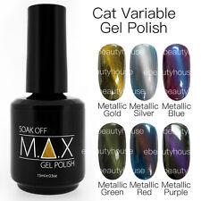 MAX 15ml Magnetic Cat Eye Variable Soak Off Gel Polish Nail Art UV/LED FULL SET
