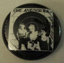 "AVENGERS 1"" BUTTON badge punk gems plasmatics agent orange circle jerks gwar rkl"