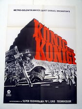 KÖNIG DER KÖNIGE / KING OF KINGS  - A1-Kinoposter WA - ger 1-Sheet  R1961/77