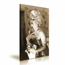 Marilyn Monroe & Perfume Icon Canvas Wall Art Picture Print A1 Size 50x76cm