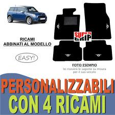 TAPPETINI AUTO PER MINI COOPER CLUBMAN IN MOQUETTE E FONDO GOMMA + 4 RICAMI EASY