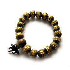 Green Sandalwood Buddha Word Tibet Buddhist Prayer Beads Mala Bracelet