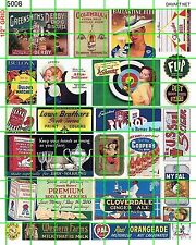 5008 DAVE'S DECALS HO AD POSTER WATCHES CRACKERS MILK ALE SIGNS ADVERTISING