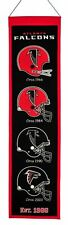 """Atlanta Falcons 32"""" Embroidered Genuine Wool Heritage Banner NWT NFL"""