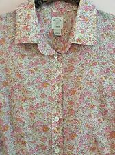 $118 J.CREW Liberty 'Vintage Floral' Perfect Shirt 100% Cotton Blouse 6