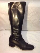 Pollini Black Knee High Leather Boots Size 39