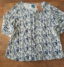NEW MANTARAY JERSEY FLORAL TOP SHIRT LAGENLOOK LAYERING SIZE 24 BNWT RRP £35