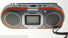 Rechargeable AM FM SW MP3 Player Radio 2  Speakers Portable  Slot Degen Quality