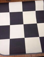 39 X 24 inch 99 X 61CM VINYL MAT BLACK AND WHITE TILE IDEAL KITCHEN ETC BN #3026