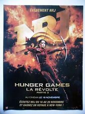 PUBLICITE-ADVERTISING :  NRJ  Hunger Games La Révolte 2  2015 Média,Radio