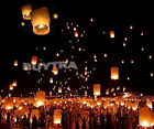 9 Colors Chinese Paper Sky Flying Wishing Lantern Lamp Candle Party Wedding WB