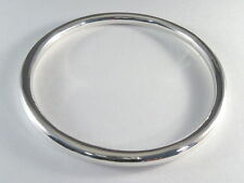 """925 sterling silver small  size hollow tube bangle smooth finish 1/4"""" wide"""