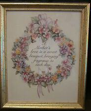 "Mother Framed Print by KAY LAMB SHANNON-Signed-9 14"" x 11 1/4"" in Goldtone Frame"