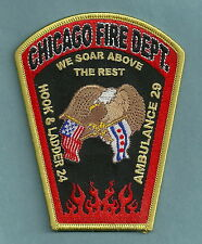CHICAGO FIRE DEPARTMENT HOOK &LADDER COMPANY 24 PATCH