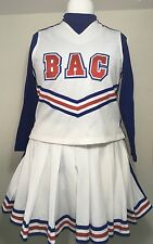 Women's Vintage Cheerleading Uniform Red White Blue Full Outfit Hallowe'en
