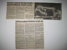 """Louisville Courier Journal 1985. Larry Holmes vs Carl """"Truth"""" Williams! (boxing)"""