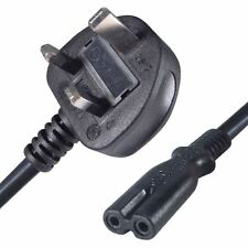 Power Cord UK 3 Pin Plug to C7 Figure 8 Power Lead 2M Fig 8 Power Cable Mains
