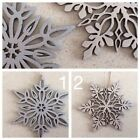 "TWO ""Frozen"" Inspired Timber Snowflakes SILVER Quick Delivery"
